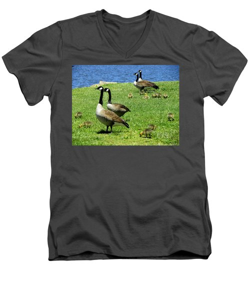 Men's V-Neck T-Shirt featuring the photograph Two By Two  by Sandi OReilly