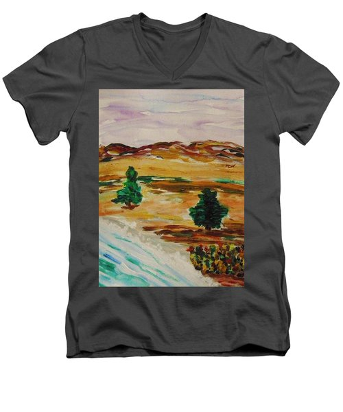 Two Cedars By The Sea Men's V-Neck T-Shirt