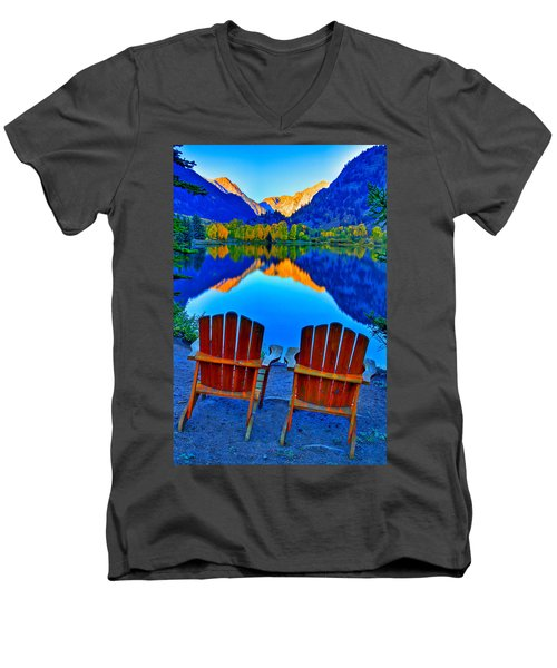 Two Chairs In Paradise Men's V-Neck T-Shirt