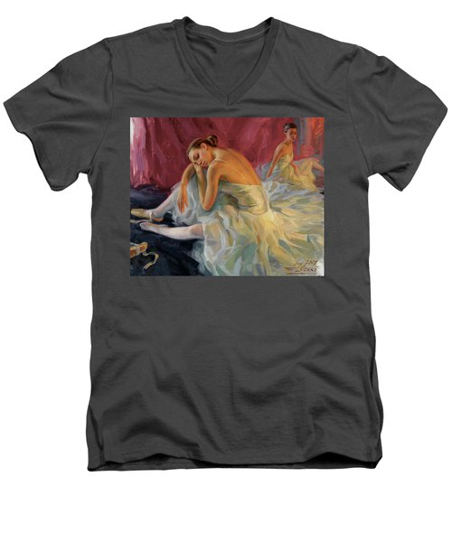 Two Dancers Men's V-Neck T-Shirt