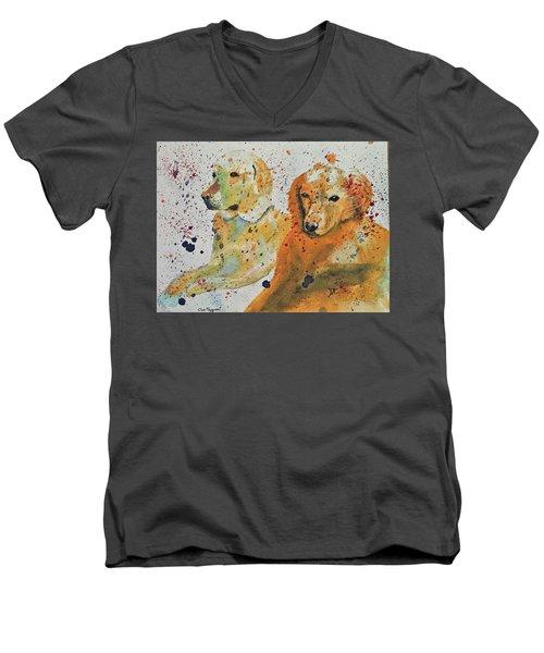 Two Dogs Men's V-Neck T-Shirt