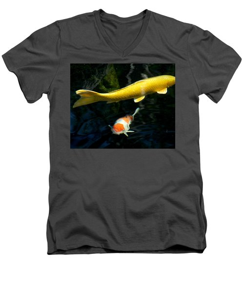 Men's V-Neck T-Shirt featuring the photograph Two Fish by Christopher Woods