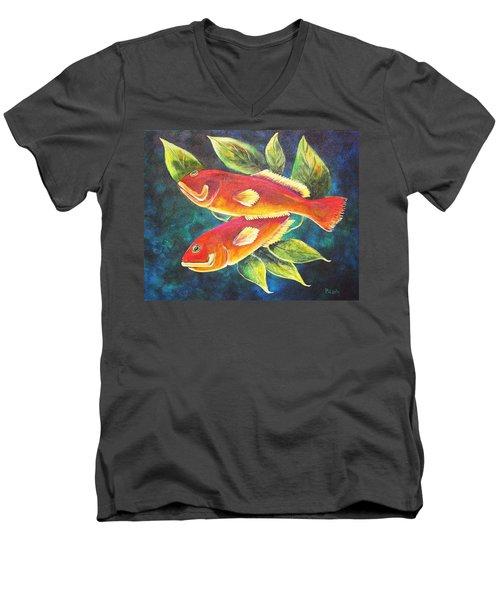 Two Fish Men's V-Neck T-Shirt