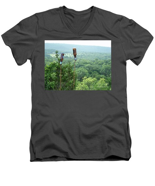 Men's V-Neck T-Shirt featuring the photograph Two For The Road by Joe Jake Pratt