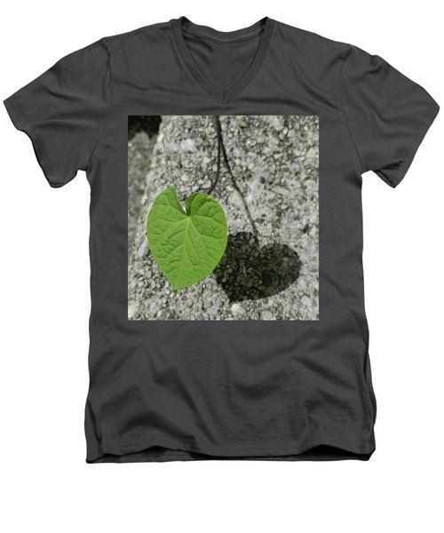 Men's V-Neck T-Shirt featuring the photograph Two Hearts Entwined by Bruce Carpenter