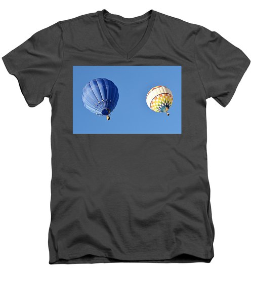 Men's V-Neck T-Shirt featuring the photograph Two High In The Sky by AJ Schibig