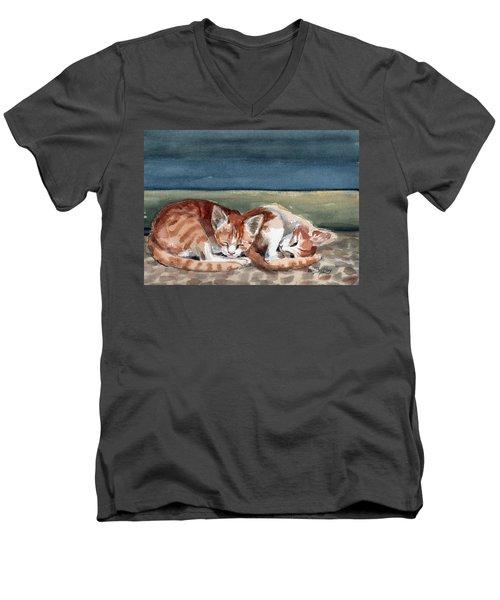 Two Kittens Men's V-Neck T-Shirt