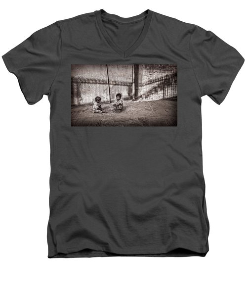 Two Little Boys Men's V-Neck T-Shirt