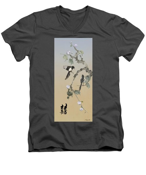Two Magpies                       Men's V-Neck T-Shirt