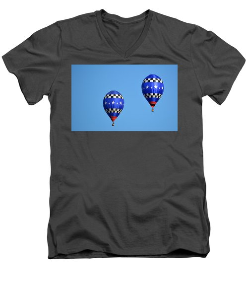 Men's V-Neck T-Shirt featuring the photograph Two Of A Kind by AJ Schibig
