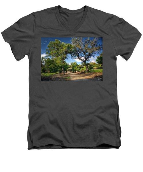 Two Old Oak Trees Men's V-Neck T-Shirt