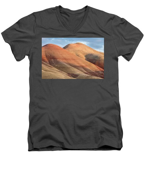 Two Painted Hills Men's V-Neck T-Shirt by Greg Nyquist