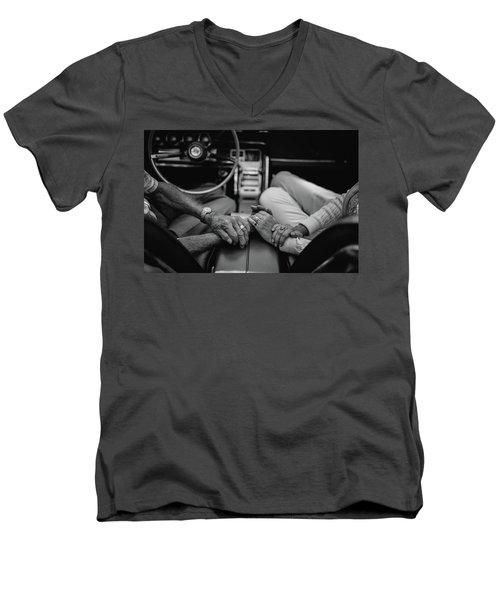 Two People In Love By Michael Grobin Men's V-Neck T-Shirt by Tara Moorman