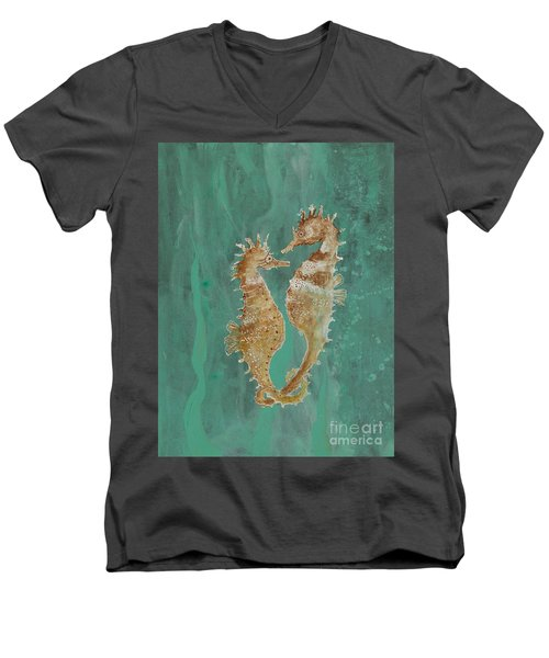 Two Seahorse Lovers Men's V-Neck T-Shirt