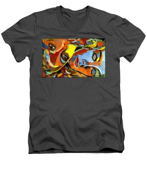 Two Souls Men's V-Neck T-Shirt