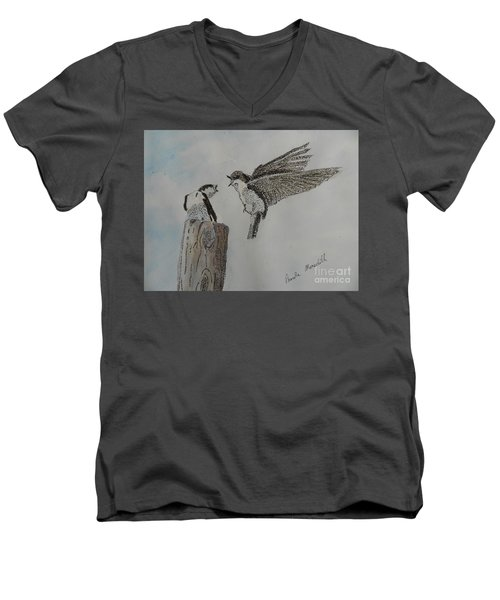 Two Swallows Men's V-Neck T-Shirt