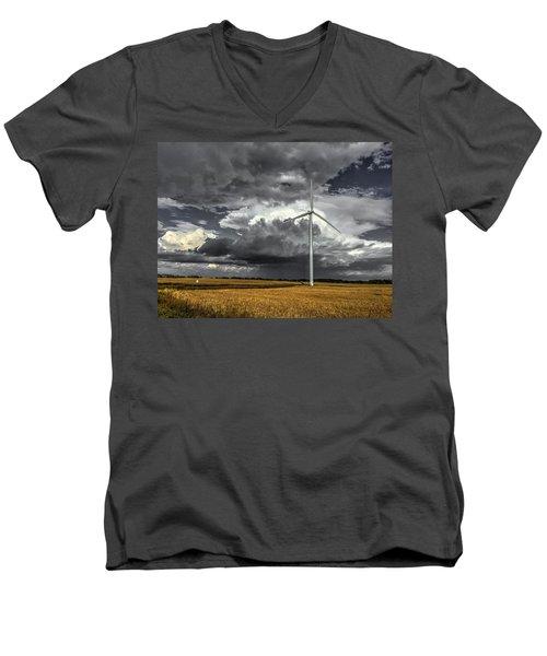 Two Tone Men's V-Neck T-Shirt