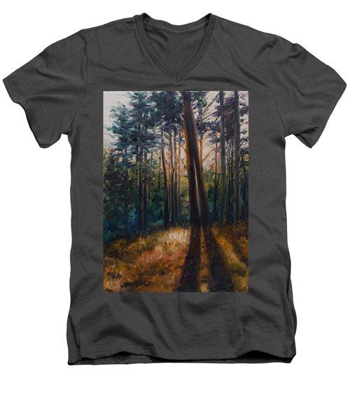 Two Trees Men's V-Neck T-Shirt by Rick Nederlof