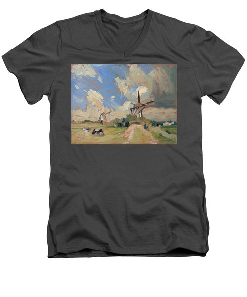 Two Windmills Men's V-Neck T-Shirt by Nop Briex