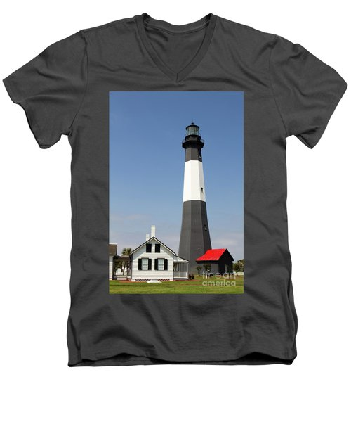 Tybee Lighthouse Georgia Men's V-Neck T-Shirt