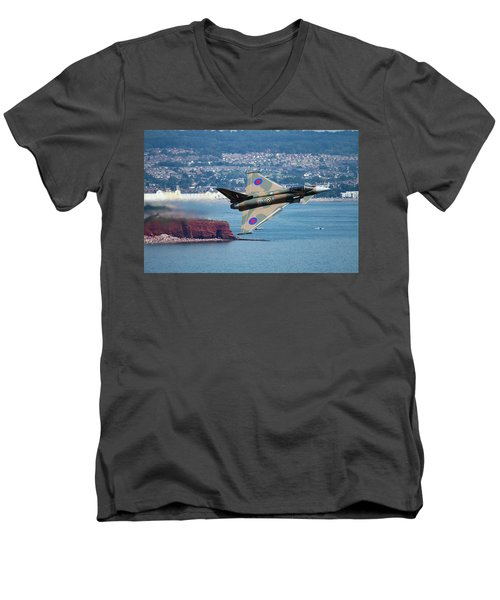 Typhoon Gina At Dawlish Air Show Men's V-Neck T-Shirt by Ken Brannen