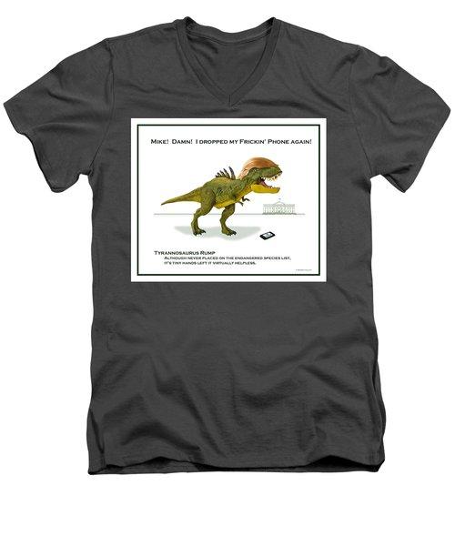 Tyrannosaurus Rump Men's V-Neck T-Shirt