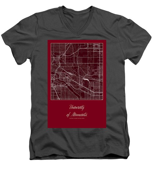 U Of M Street Map - University Of Minnesota Minneapolis Map Men's V-Neck T-Shirt