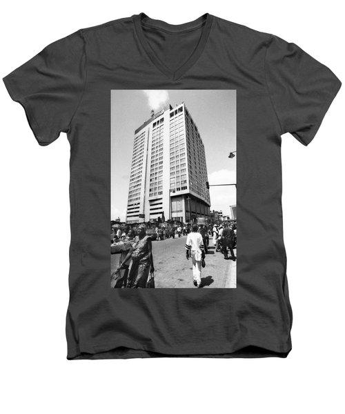 Uba Bank Marina Men's V-Neck T-Shirt
