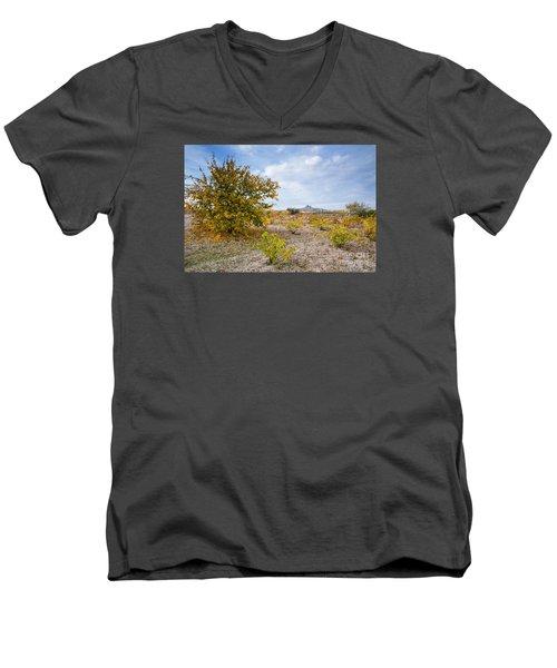 Men's V-Neck T-Shirt featuring the photograph Uchisar by Yuri Santin