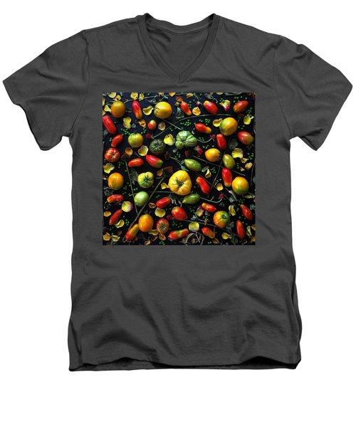 Heirloom Tomato Patterns Men's V-Neck T-Shirt