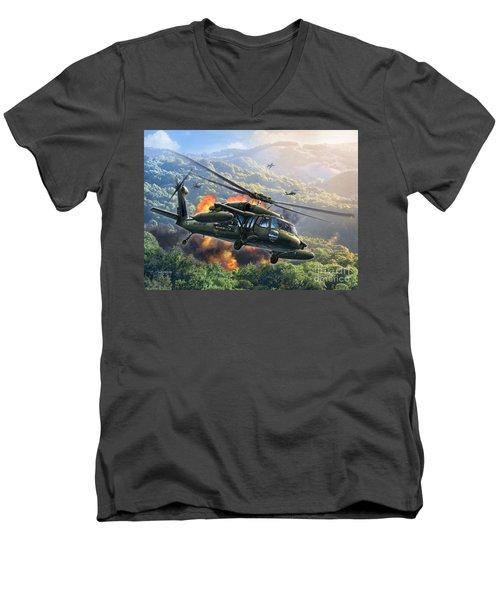Uh-60 Blackhawk Men's V-Neck T-Shirt