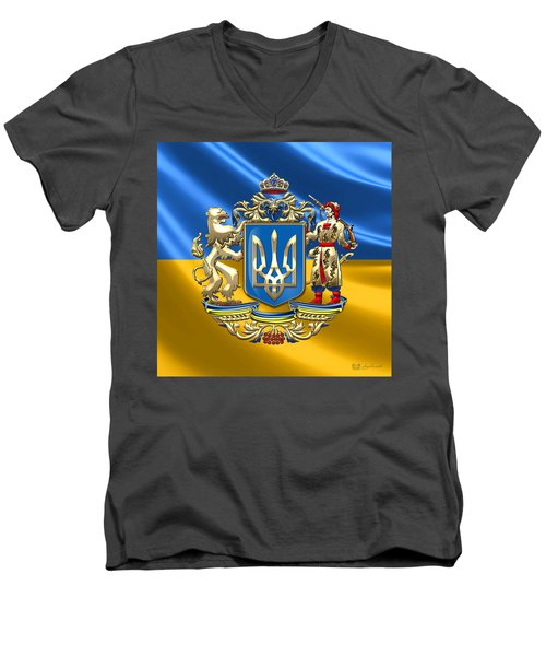 Ukraine - Greater Coat Of Arms  Men's V-Neck T-Shirt by Serge Averbukh