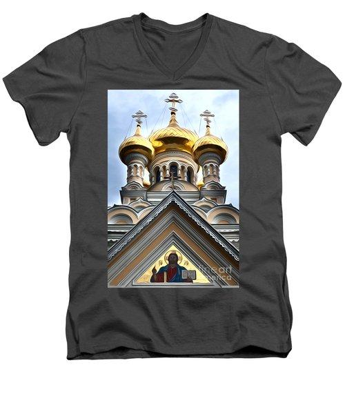 Ukrainian Church Men's V-Neck T-Shirt
