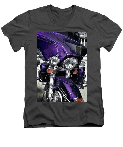 Ultra Purple Men's V-Neck T-Shirt