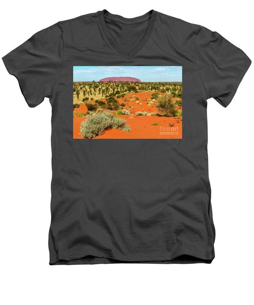 Men's V-Neck T-Shirt featuring the photograph Uluru 01 by Werner Padarin