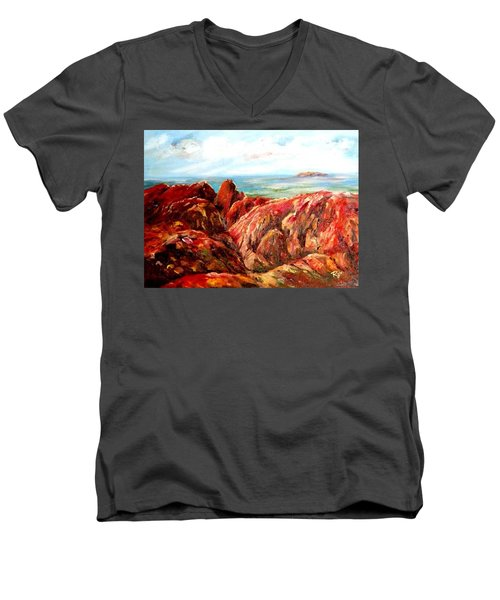 Uluru Viewed From Kata Tjuta Men's V-Neck T-Shirt