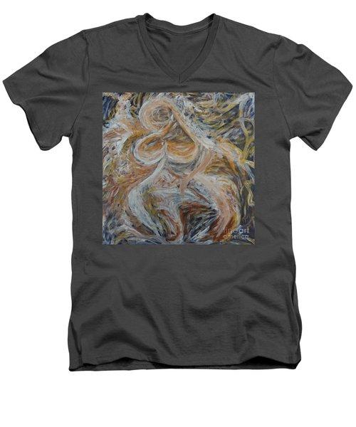 Uma Men's V-Neck T-Shirt by Gallery Messina