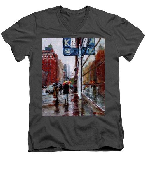 Umbrellas On Amsterdam Aveune Men's V-Neck T-Shirt