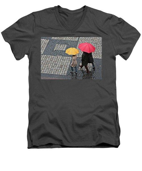 Rainy Day In Heidelberg Men's V-Neck T-Shirt