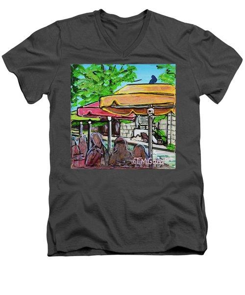 Umbrellas Men's V-Neck T-Shirt
