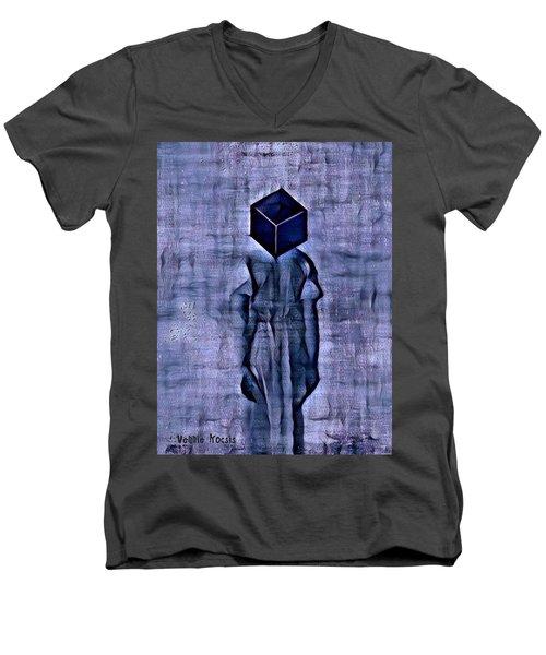 Unacknowledged Men's V-Neck T-Shirt by Vennie Kocsis