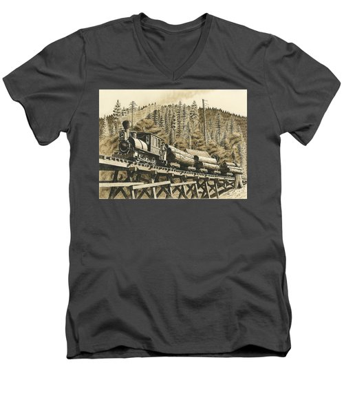 Uncle Sam Sepia Men's V-Neck T-Shirt