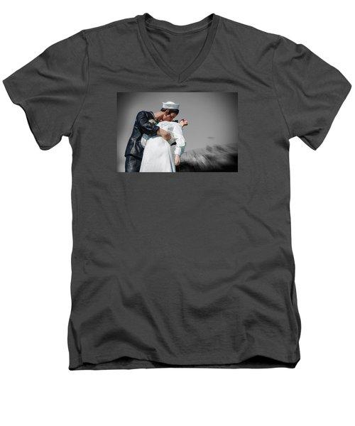 Unconditional Surrender 1 Men's V-Neck T-Shirt by Susan  McMenamin