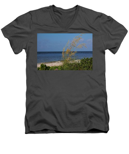 Men's V-Neck T-Shirt featuring the photograph Under A Summer Sky by Michiale Schneider