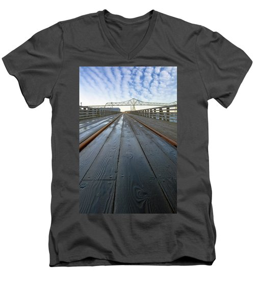 Under Astoria Megler Bridge On Riverwalk Men's V-Neck T-Shirt
