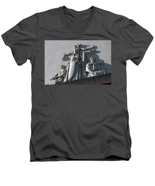 Under Scales Of Justice Men's V-Neck T-Shirt