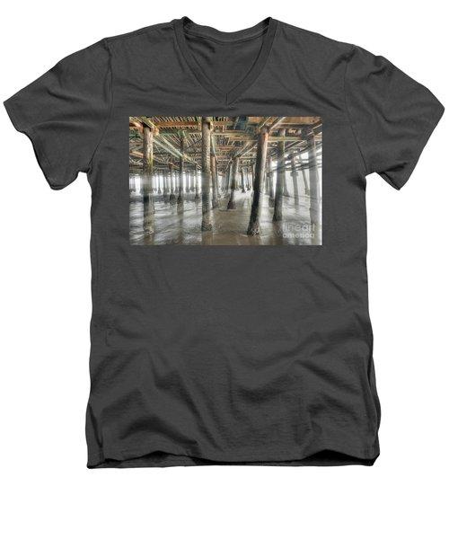 Men's V-Neck T-Shirt featuring the photograph Under The Boardwalk Into The Light by David Zanzinger