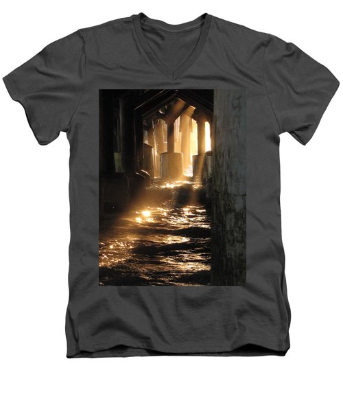 Under The Daytona Beach Pier 004  Men's V-Neck T-Shirt
