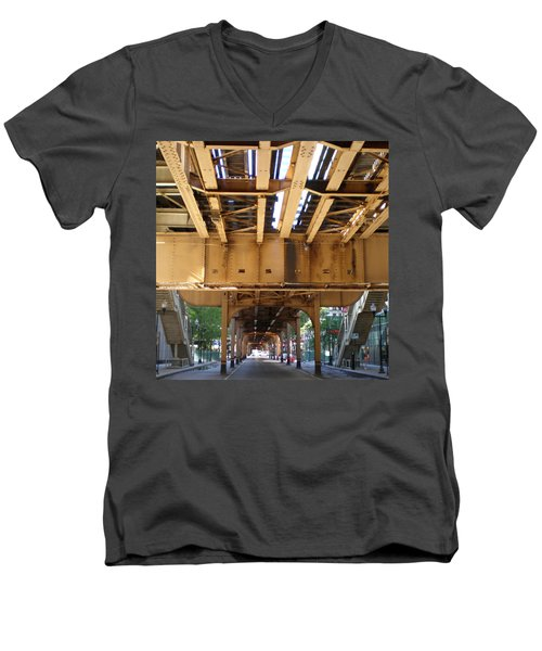 Under The El - 1 Men's V-Neck T-Shirt