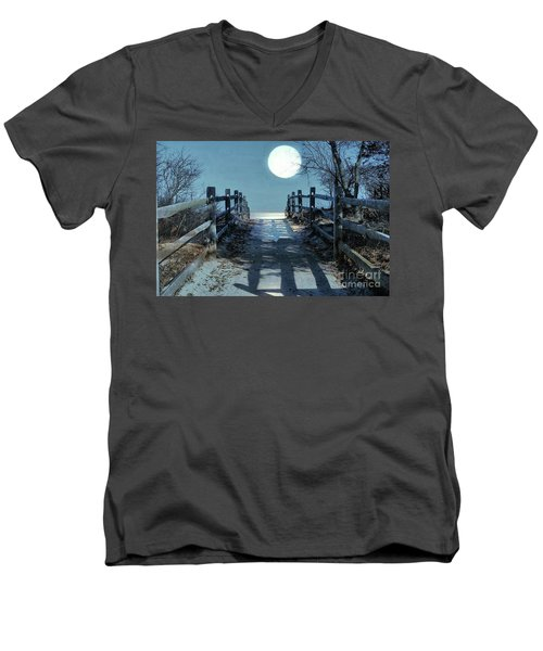 Under The Moonbeams Men's V-Neck T-Shirt